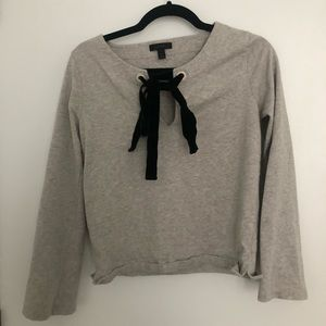 Jcrew ribbon keyhole sweater